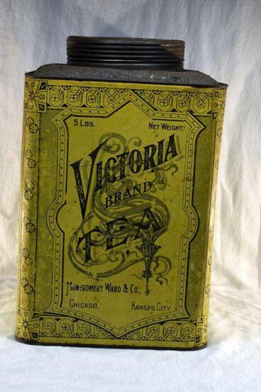 5 lb. Victoria Brand tea tin