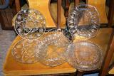 Press Glass serving plates