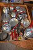 Childs Tin Doll and Play Dishes