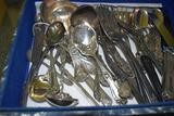 Assorted flatware with case