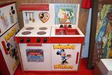 American Toy Furniture Mickey Mouse refrigerator, stove and sink