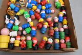 Assortment of Little People figurines wooden and plastic
