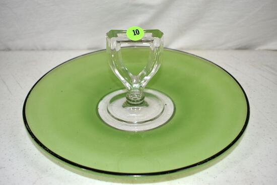 Satin glass serving tray