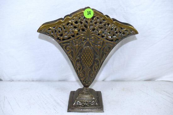 India metal fan vase