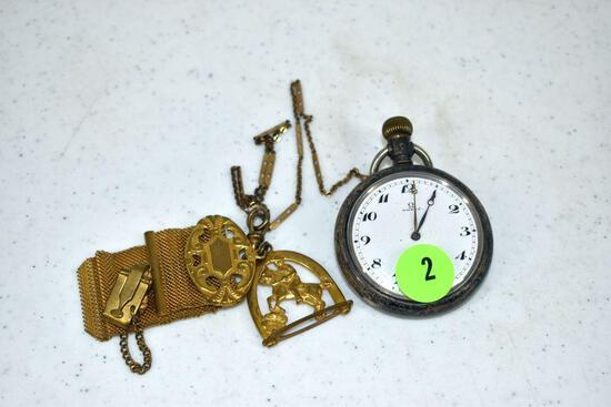 Omega railroad pocket watch