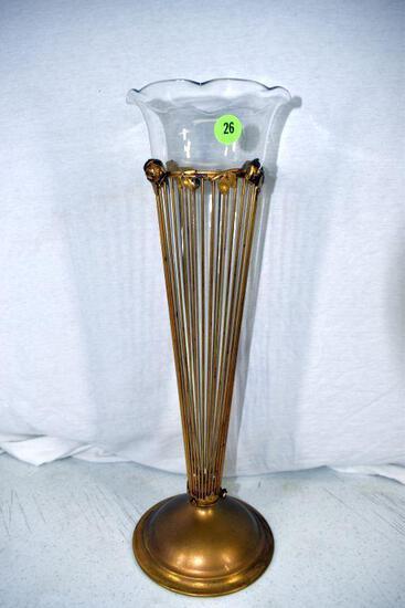 Metal based 16' vase