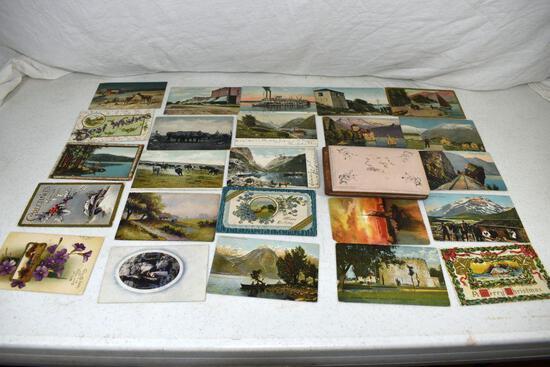 Assortment of postcards