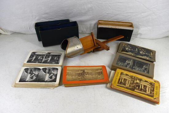 Stereoscope viewer and cards