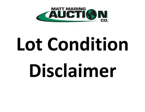 Lot Conidtion Disclaimer