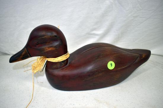 Wooden decorative duck from the Stanstead collection, signed