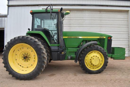 1996 John Deere 8100 MFWD Tractor, 10260 Hours, 420/80R46 Rear Duals, 320/85R34 Front Tires