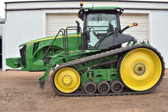 """2011 John Deere 8360RT Track Tractor, 3947 Hours, 24"""" Tracks At 95%, 22 Front Suitcase Weights,"""