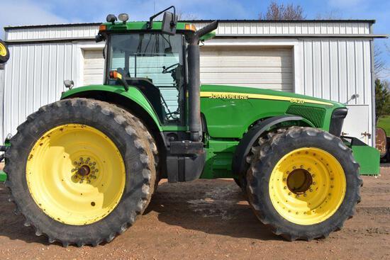 2002 John Deere 8420 MFWD Tractor, 10784 Hours, 480/80R50 Rear Duals, 380/80R38 Front Duals