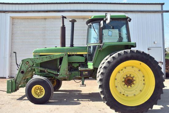 """John Deere 4630 2WD Tractor With John Deere 148 Joystick Loader, 96"""" Bucket, 11661 Hours,"""
