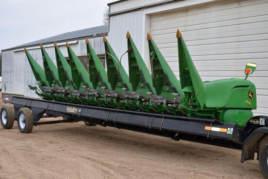 "2011 John Deere 608C StalkMaster Corn Head, 8 Row 30"", Knife Rolls, Hyd. Deck Plates,"