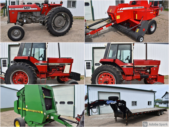 CLEAN FARM AND HAYING EQUIPMENT ESTATE AUCTION