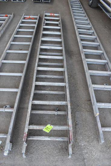 Aluminum 24' total length extension ladder