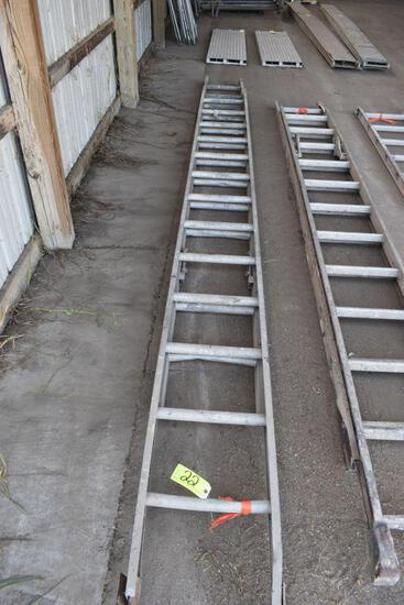 Aluminum 28' total length extension ladder