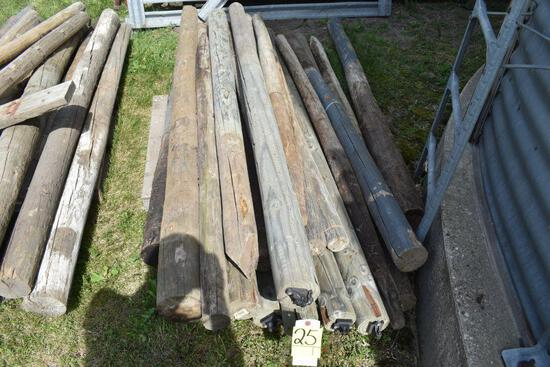 Assorted Wooden Fence Post