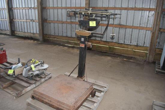 National Counting & Weight Machine, Platform Scale with weights