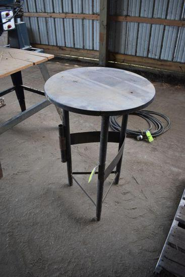 """Round Welding Table, 24"""" Round by 36"""" tall"""