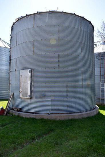 Chicago 21' Diameter Steel Grain Bin, 7 Rings, Approx. 5500 Bushel