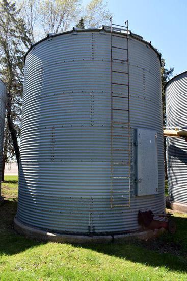 15' Diameter Steel Grain Bin, 6 Rings, 2200 Bushel
