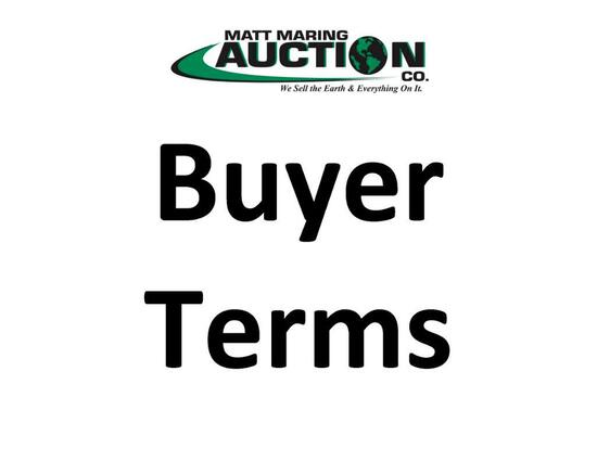 Auction Terms & Removal Dates