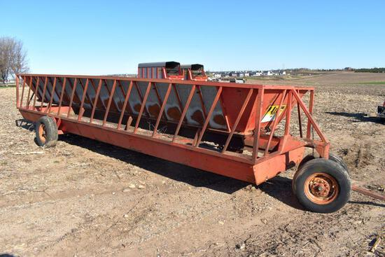 H & S 24' Feeder Wagon With Filler Sheets, Needs Floor Repair