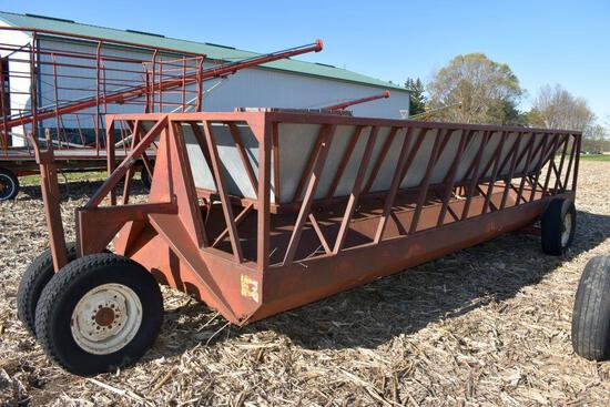 Notch 7'x 20' Feeder Wagon With Filler Sheets, Floor Needs Some Repair