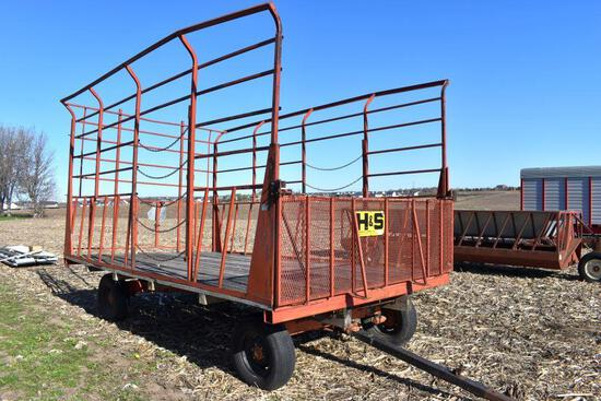 H & S 9'x 16' Steel Bale Throw Rack, 8 Ton Gear