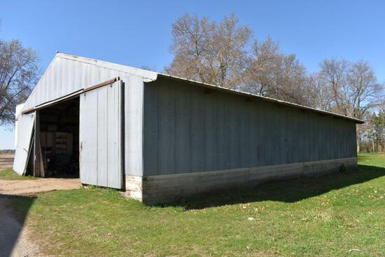 Machine Pole Shed 40' x 64' x 12', Sliding Doors On Each End, To Be Moved or Salvaged