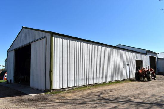 Machine Pole Shed 40' x 100' x 14', Which Includes 40' x 35' x 14' Heated Shop Area,
