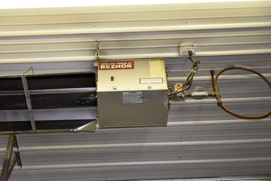 Reznor 30' Tube Heater, Natural Gas, East Side, buyer has to remove heaters from ceiling
