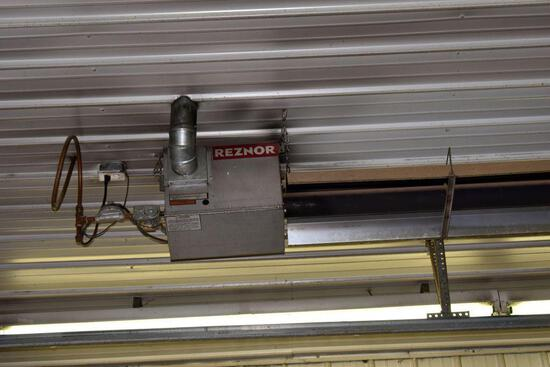 Reznor 30' Tube Heater, Natural Gas, West Side, buyer has to remove heaters from ceiling