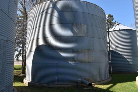 Co-op 24' Diameter Steel Grain Bin, 6 Rings, Approx. 6500 Bushel