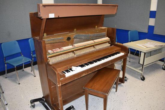 "Baldwin Piano, 26"" wide x 57 1/2"" long x 44 3/4 high, needs new hammers"