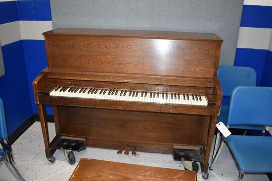 """Baldwin Piano, 26"""" wide x 57 1/2"""" long x 46 high, one hammer broken"""