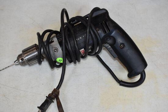"Porter Cable, Model 6614, 1/2"" Corded Drill, No Chuck Key"