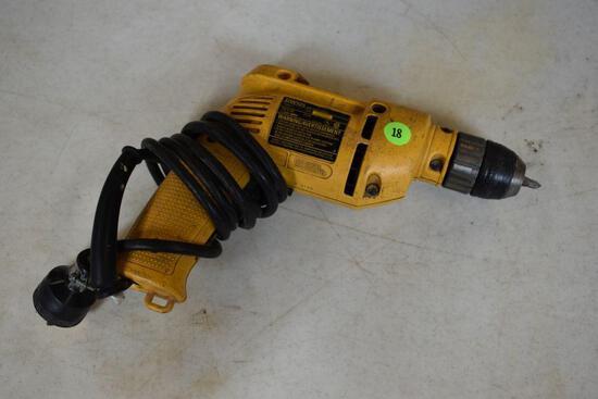 """DeWalt DW101 3/8"""" Corded Drill - Keyless Chuck"""