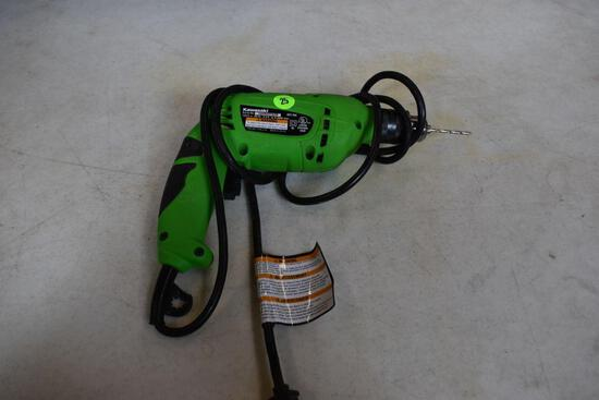 "Kawasaki 3/8"" Corded Drill - No Chuck Key 3.2Volt"