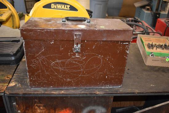 5 Drawer Metal Tool Box With Latch And Handle