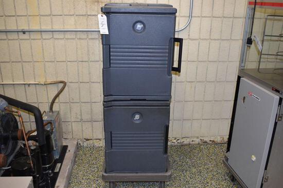 "Cambro Plastic Cooler Wheeled, 18 wide x 25"" deep x 47"" high - inside cooler, 18"" wide x"