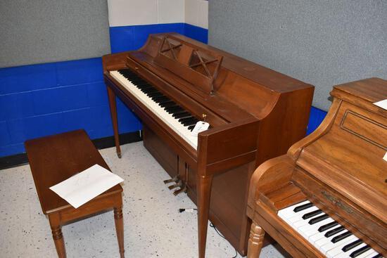 """Wurlitzer Piano, 24"""" wide x 55 1/2 long x 37"""" high"""