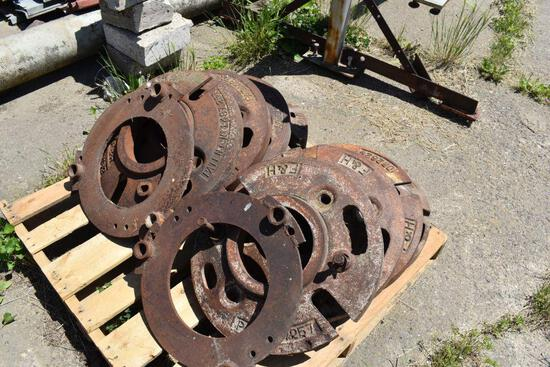 (4) F/H 150lb Wheel Weights, selling 4 x $
