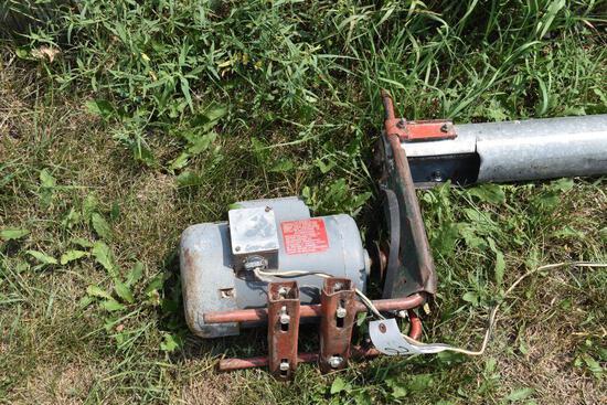 "4""x15' cross auger, 3/4HP electric motor"