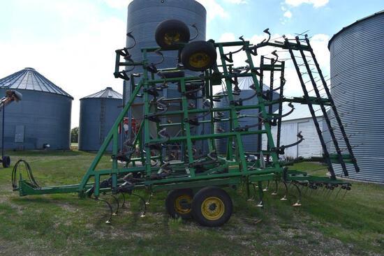 John Deere 960 Field Cultivator 3 Bar Harrow 36.5', Depth Control, Walking Tandems, SN: