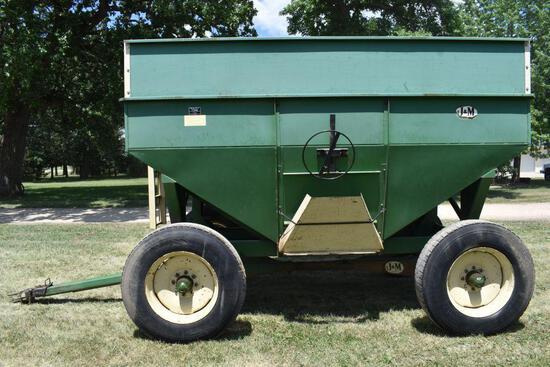 J&M 350 Bushel Gravity Flow Wagon With 13 Ton Gear, 11x24.5 Tires