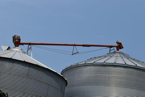 Approx. 30' Cross Auger with electric motor, east side, buyer responsible for removal