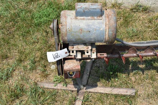 10' Bin Sweep with 1HP motor